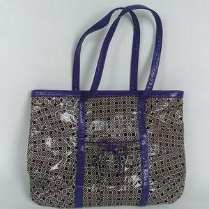 "Vera Bradley ""Frills"" Vinyl Shopper's Tote Bag"